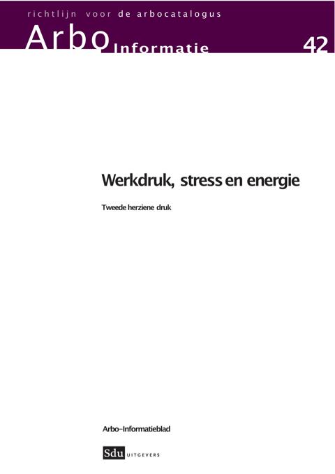 Werkdruk en stress brochure